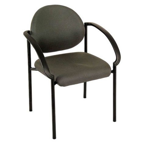 Fabric Side Guest Chair W Arms