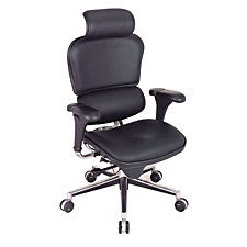 Ergohuman Leather High Back Ergonomic Chair with Headrest, CH02906