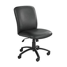 Black Vinyl Big and Tall High Back Chair, CH03842