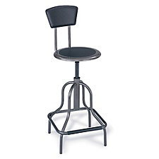 Diesel Stool with Leather Seat and Back, CH00650