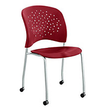 Reve Plastic Guest Chair with Casters, CH50845
