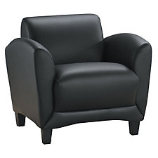 Faux Leather Lounge Chair, CH03870