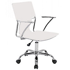 Modrest Faux Leather and Chrome Frame Task Chair, CH51769