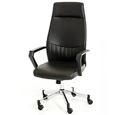 Modrest Faux Leather High Back Computer Chair with Headrest, CH51777
