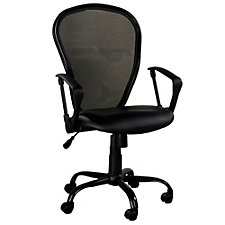 Locust Mesh Back Faux Leather Seat Task Chair, CH51244