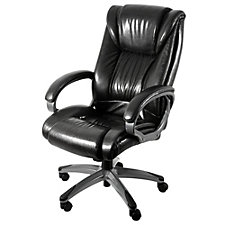 Galena Bonded Leather Executive Chair with Graphite Base, CH51251