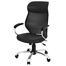 Locust Mesh Back Faux Leather Seat Executive Chair, CH51245