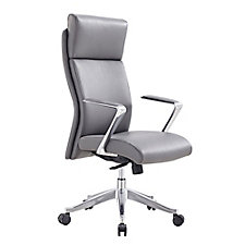 Faux Leather Big and Tall Conference Chair with Headrest, CH51740