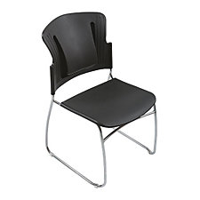 Reflex Black Plastic Guest Chair, CH03805