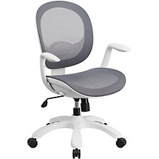 Southport Mesh White Frame Ergonomic Computer Chair, CH51274