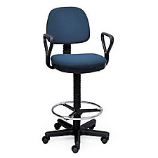 Low Back Drafting Chair with Arms, CH02076
