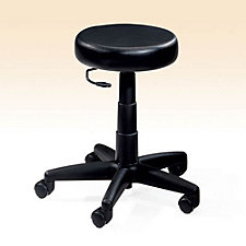 Backless Black Vinyl Stool, CH02072