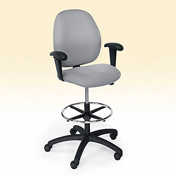 Mid Back Drafting Stool With Arms CH02081 At