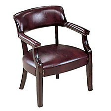 Leather Traditional Guest Chair with Arms, CH01639