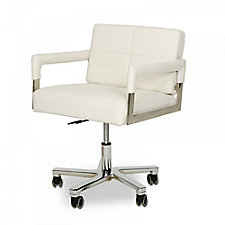 Faux Leather Mid-Century Modern Low Back Office Chair, CH51741