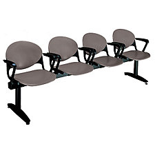 Polypropylene Four Seat Bench with Arms, CH03092