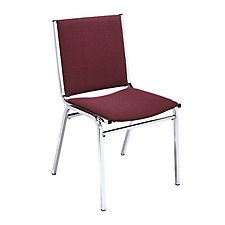 "Fabric Armless Stack Chair - 2"" Thick Seat, CH03039"