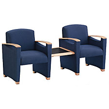Fabric Guest Chairs with Center Table, CH04223
