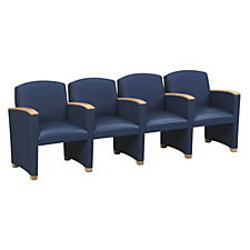 Fully Upholstered Wood Arm Four Seater, CH01535