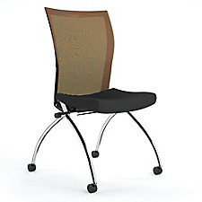 Armless Mesh Back Mobile Nesting Chair, CH50660