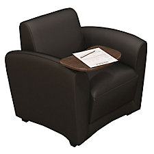 Santa Cruz Genuine Leather Mobile Lounge Chair with Tablet Arm, CH50662