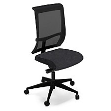 Commute Armless Fabric Seat Mesh Back Task Chair, CH50671