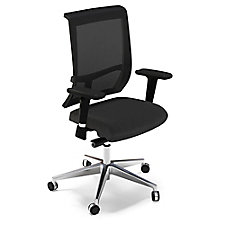 Commute Fabric Seat Mesh Back Task Chair with Chrome Frame, CH50679
