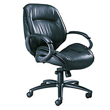 Mid Back Leather Chair, CH01330