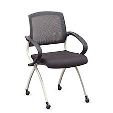 Fabric Nesting Chair with Flexible Mesh Back, CH50655