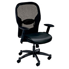 Space Task Chair in Bonded Leather With Mesh Back, CH51218