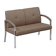 Guest Loveseat with Chrome Legs, CH50856