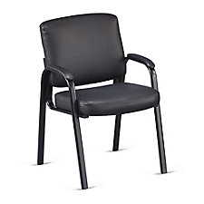 Faux Leather Padded Arm Guest Chair , CH51180