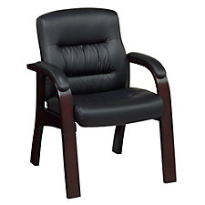 "Vista Faux Leather Guest Chair with 4-3/4"" Thick Seat, CH50368"
