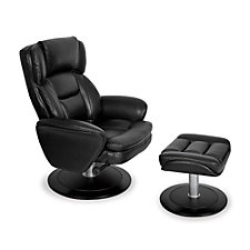 Leather Recliner and Ottoman Set, CH50422
