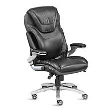 Faux Leather Ergonomic Flip Arm Executive Chair, CH50565