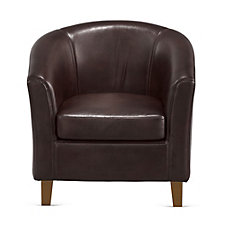 Faux Leather Curved Back Club Chair, CH51183