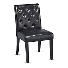 Tufted Armless Guest Chair in Faux Leather, CH51164