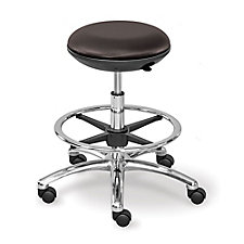 Polyurethane Mid Range Stool with Memory Foam Seat and Foot Ring, CH50865
