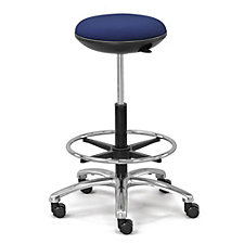 Fabric Stool with Memory Foam Seat and Foot Ring, CH51173