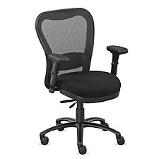 24/7 Big and Tall Fabric Seat Mesh Chair with Memory Foam, CH50872