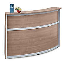 "Laminate Curved Reception Desk - 72""W x 30""D, 8804959"