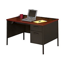 "Single Pedestal Desk - 48"" x 30"", UNE-P3251R"