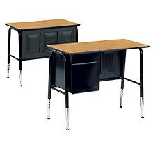 Single Desk with Book Box, VIR-765