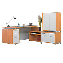Align Reversible L-Desk with Storage Cabinet, NBF-ALDHLHD