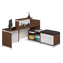 Align Multi-Level Reception L-Desk, REN-10529