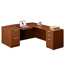 Executive Bow Front L-Desk, OFG-LD1166