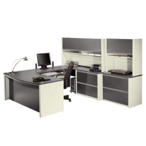 Connexion Exec U Desk with Hutch by Bestar