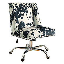 Draper Armless Chair with Chrome Base, 8805174