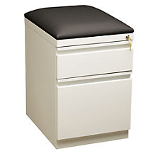 "Dimensions Two Drawer Mobile File Pedestal with Cushion - 19.88""D, 8804229"