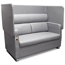 Morph Flip Up Privacy Panel Sofa in Faux Leather, 8803894